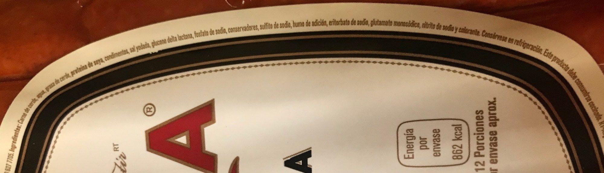 CHISTORRA PARMA - Ingrediënten - es