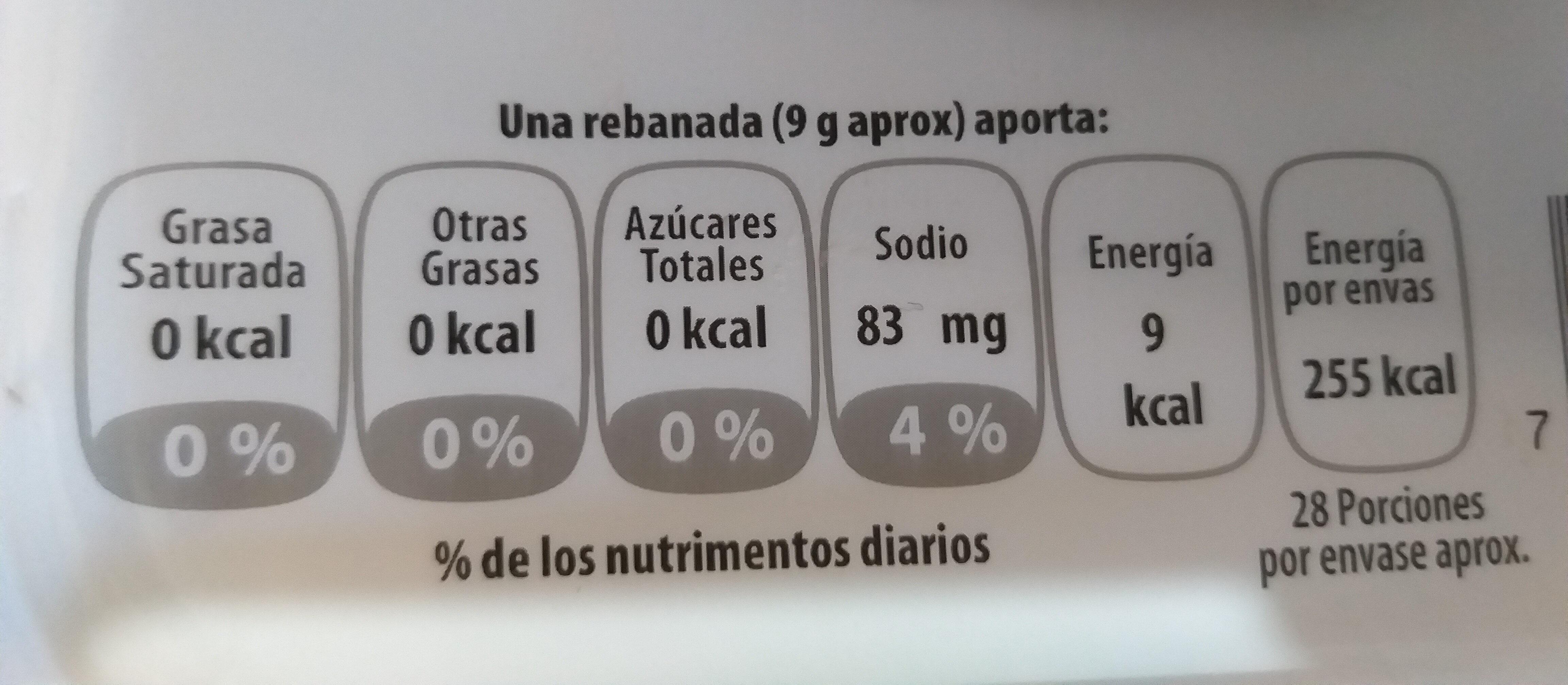 pechuga de pavo extrafina - Nutrition facts