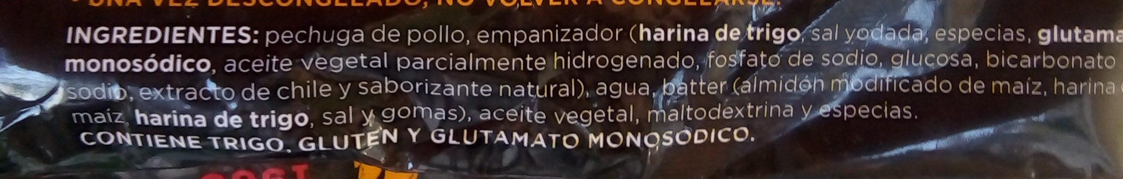 Trozos de pechuga empanizados y cocinados - Ingredientes - es