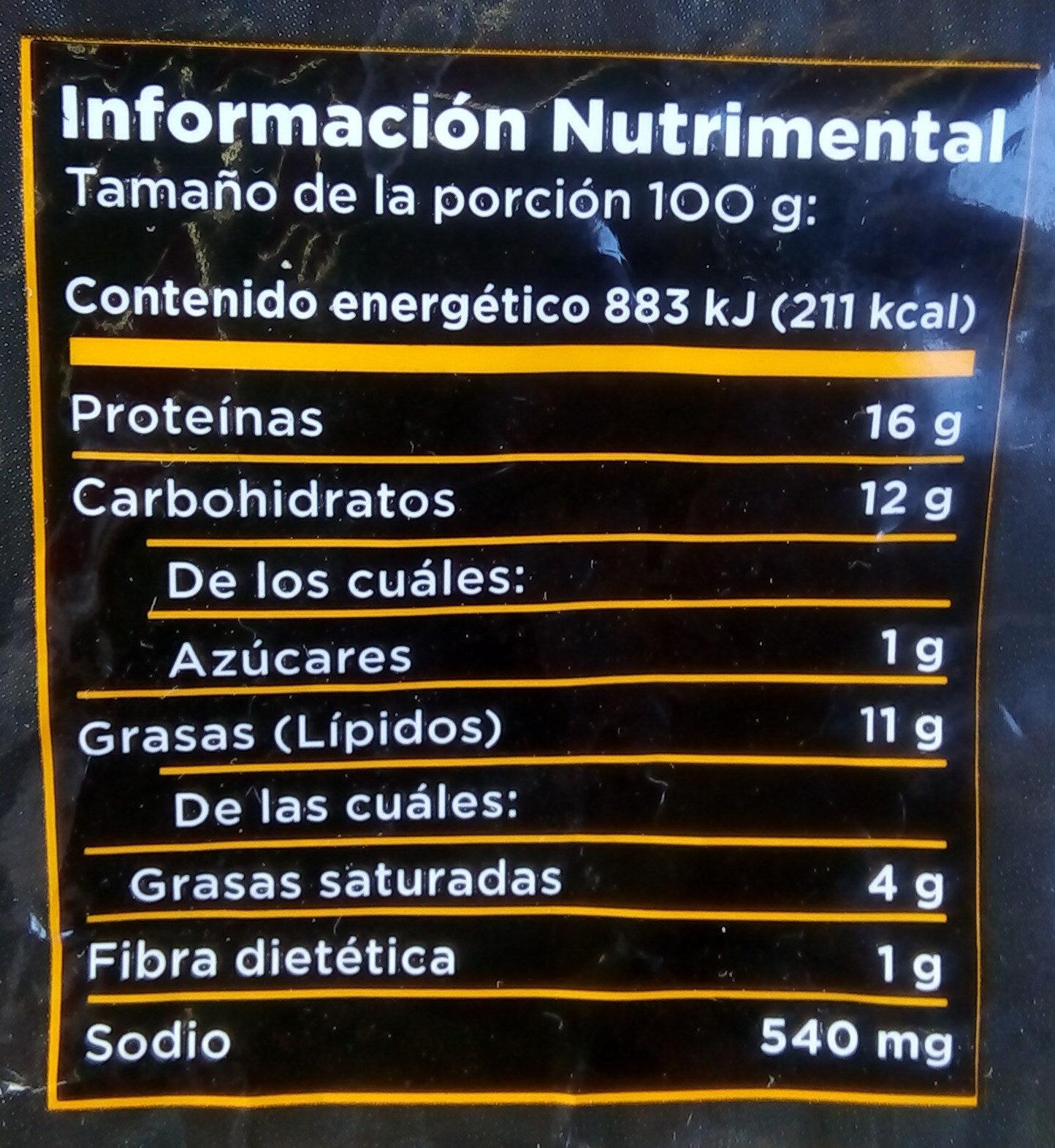 Trozos de pechuga empanizados y cocinados - Información nutricional - es