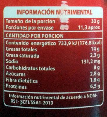 Crema de cacahuate cremosita - Nutrition facts