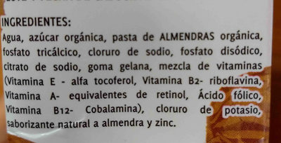 GuD ALMENDRAS - Ingredients - en