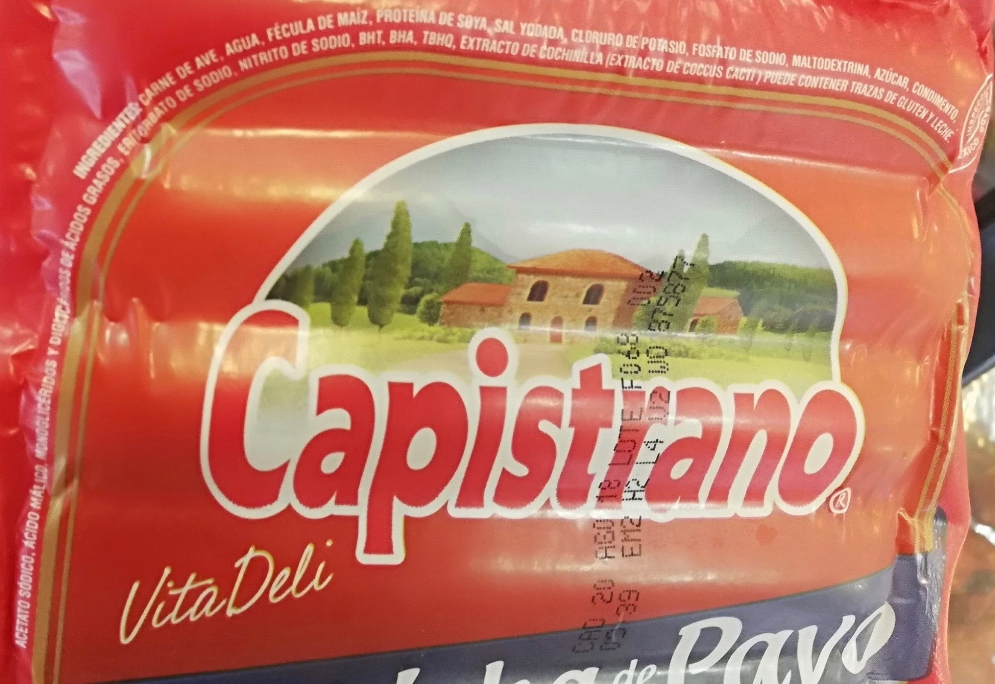 Capistrano Salchicha de Pavo - Ingredients - es