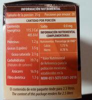 Chocolate Mayordomo - Información nutricional - es