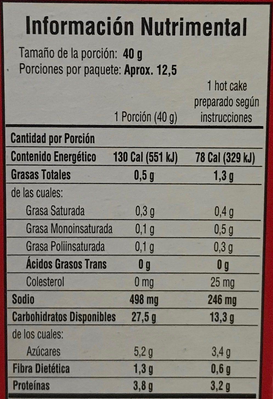 Pancake Mix - Nutrition facts - es