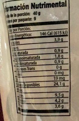 GRANOLA CON ALMENDRAS Y ARANDANOS - Informations nutritionnelles - es