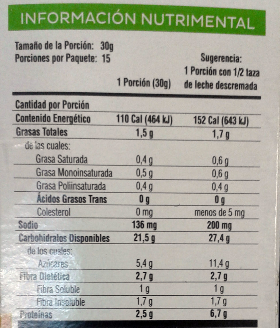 Stila sabor fresa - Nutrition facts