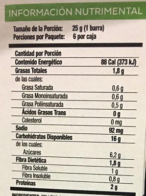 Stila Sabor Mora - Informations nutritionnelles