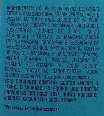 AVENA INSTANT FRESAS CON CREMA - Ingredients - es