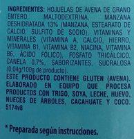 0% azúcar manzana y canela - Ingredients - es