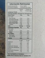 0% azúcar manzana y canela - Nutrition facts - es