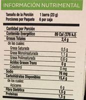 Stila Fit Chocolate - Información nutricional - es