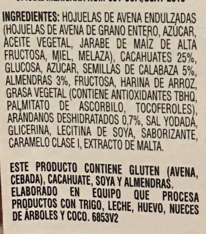 Nutural Balance Arándano y Almendra - Ingrédients