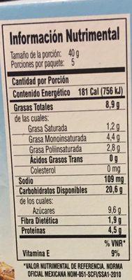 Nutural Balance Arándano y Almendra - Informations nutritionnelles