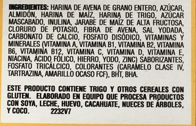 Avena Quaker O's sabor vainilla - Ingrediënten - es