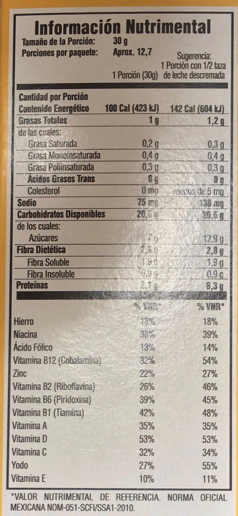 Avena Quaker O's sabor vainilla - Voedingswaarden - es