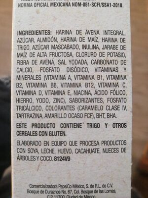 Avena o's - Ingredientes - es