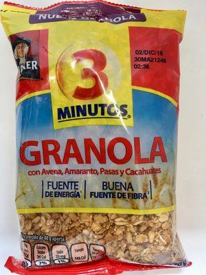 Granola 3 Minutos - Product - es