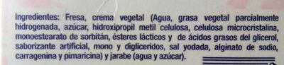 Fresas congeladas - Ingrédients