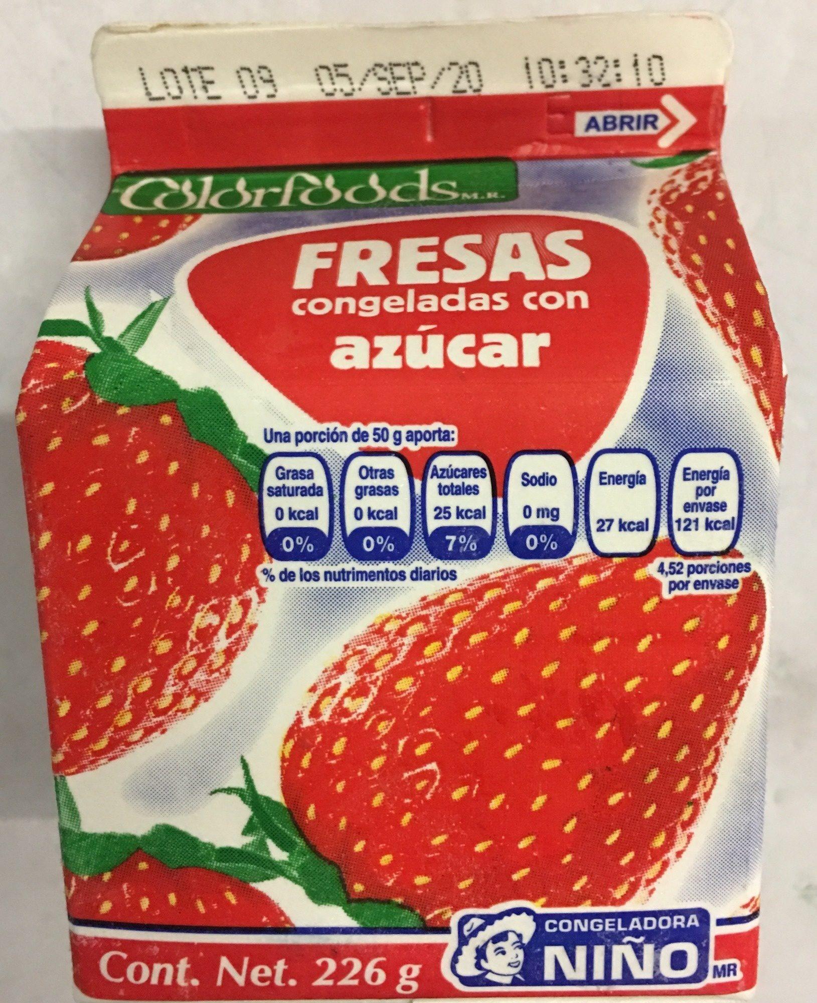 Fresas congelada con azucar - Produit - es