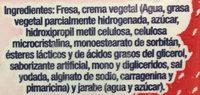 Fresas Congeladas con crema - Ingrédients - es
