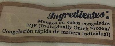 MANGO CONGELADO EN CUBOS - Ingrédients - es