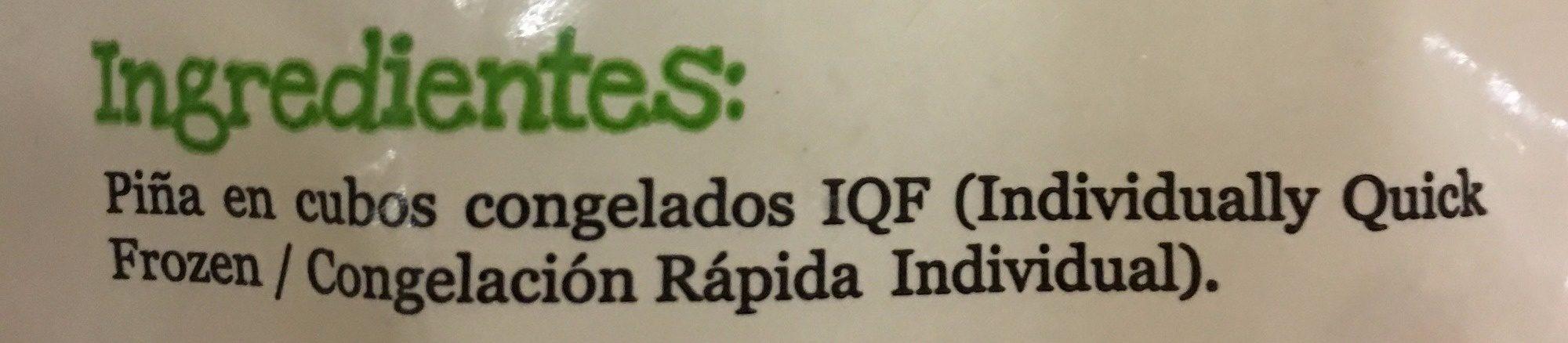 PIÑA CONGELADA EN CUBOS - Ingrédients - es