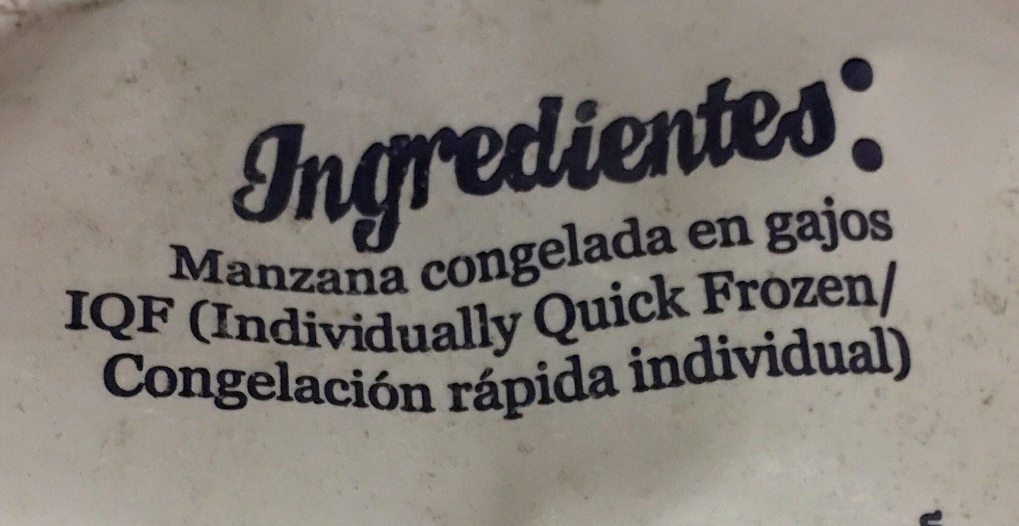 MANZANA EN GAJOS - Ingrédients - es