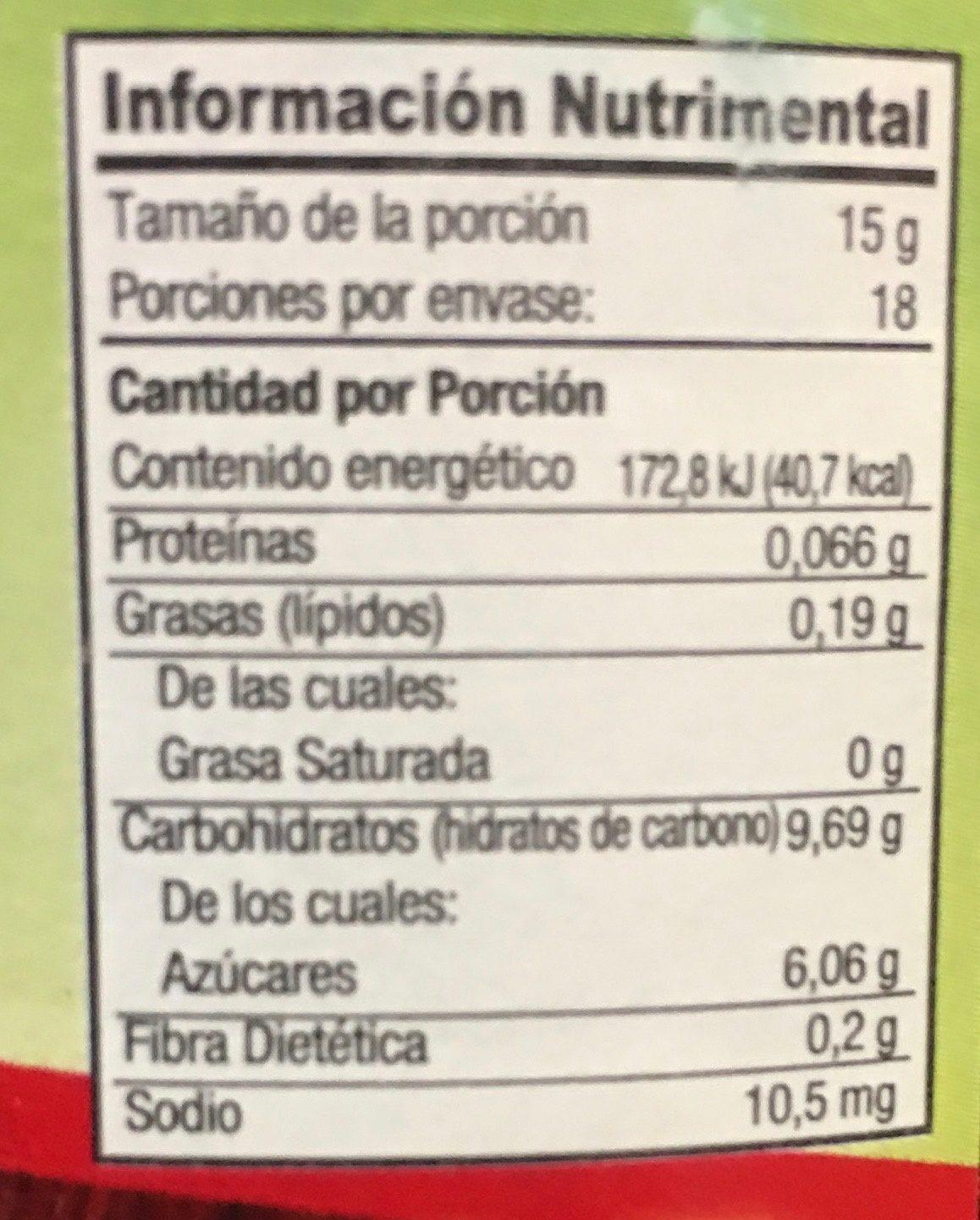 Mermelada de fresa - Informations nutritionnelles - es