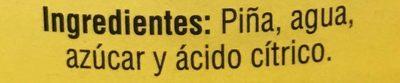 REBANADAS DE PIÑA EN ALMÍBAR GREAT VALUE - Ingredientes - es