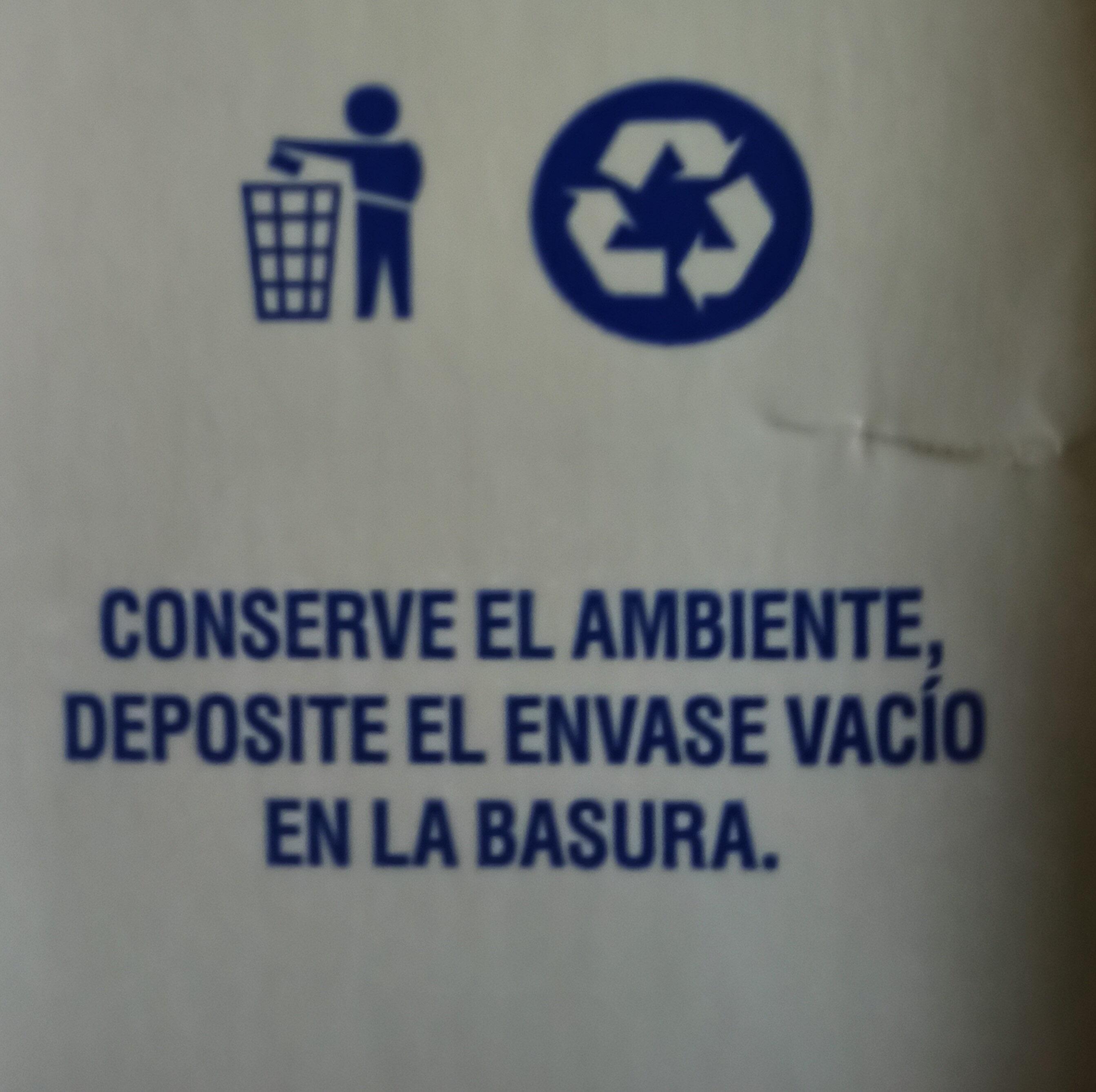 Leche entera - Istruzioni per il riciclaggio e/o informazioni sull'imballaggio - es