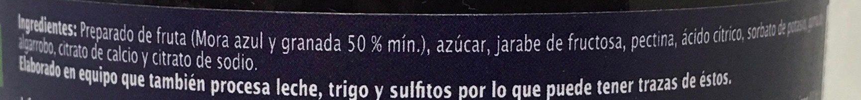MERMELADA DE MORA AZUL Y GRANADA - Ingredients - es