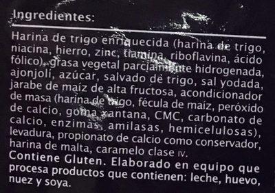 Extra Special Pan marmoleado - Ingredients