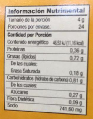 CALDO DE POLLO - Nutrition facts