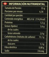 Pizza Margarita - Nutrition facts