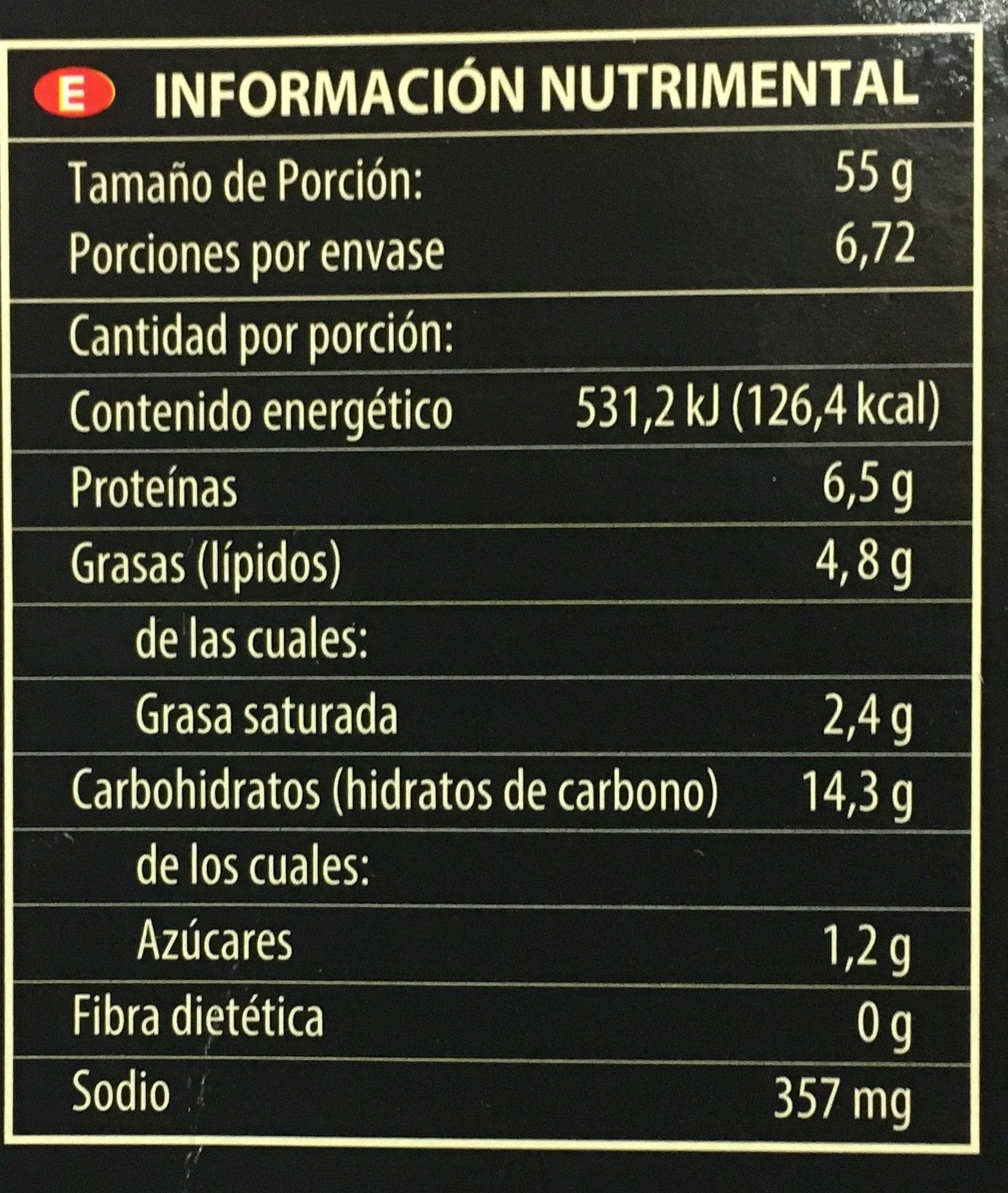 Pizza de Peperoni - Nutrition facts