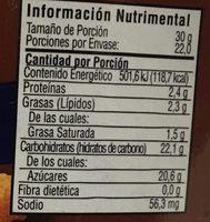 Cajeta sabor Vainilla - Informations nutritionnelles