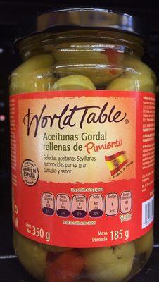 Aceitunas Gordal Rellenas de Pimiento - Product - es