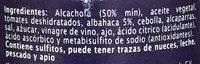 BRUSCHETTA DE ALCACHOFA - Ingrédients - es