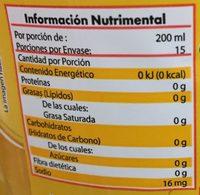 Refresco Piña - Informations nutritionnelles