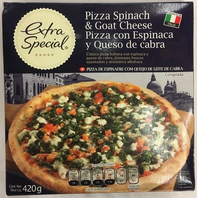 Pizza con Espinaca y Queso de cabra - Produit