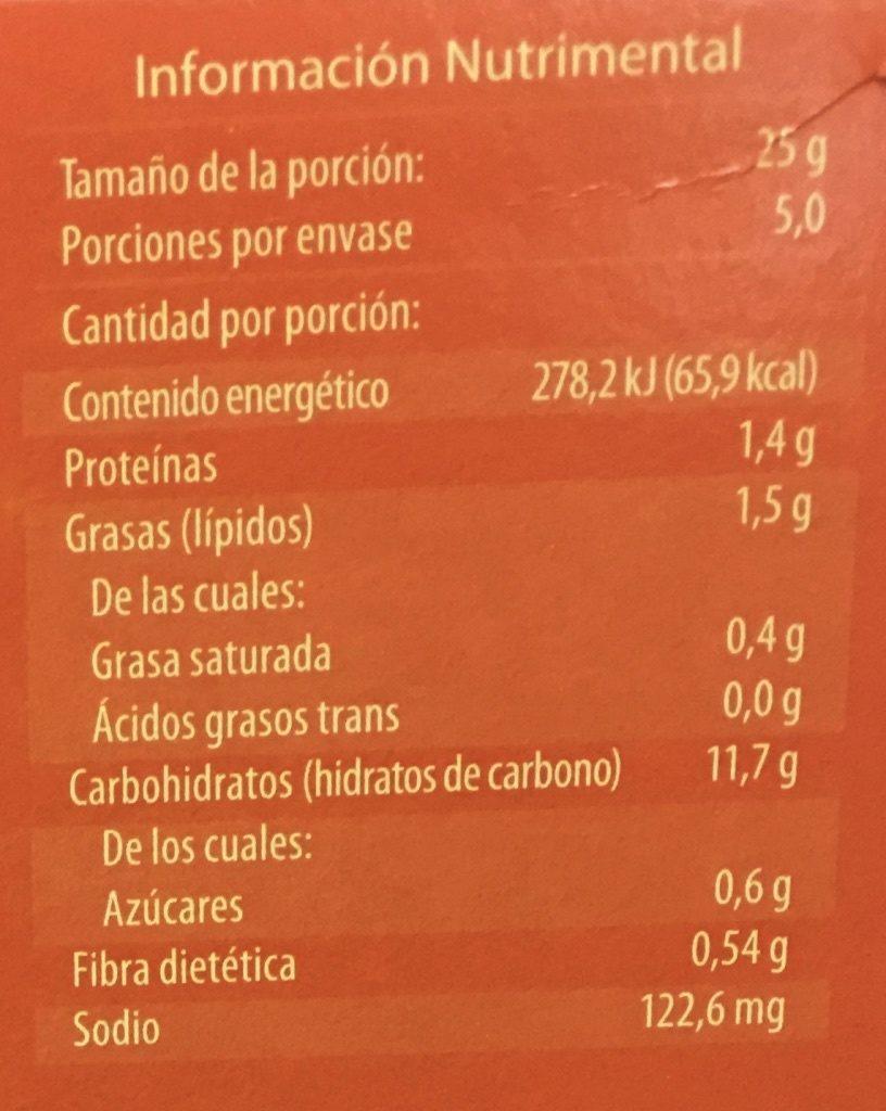 WORLD TABLE - Voedingswaarden - es