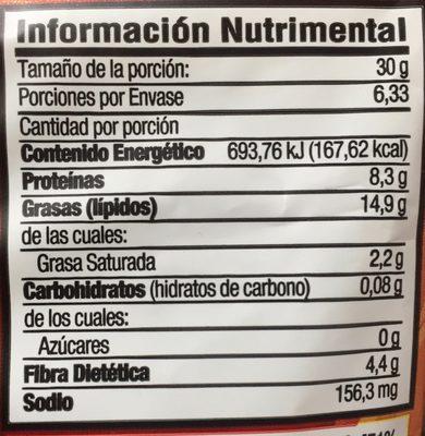 Botana surtida Enchilada - Informations nutritionnelles