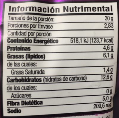 Garbanzos Enchilados - Nutrition facts - es