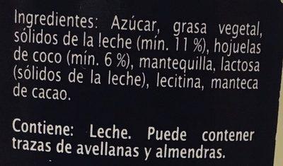 Crema untable con Trozos de Coco - Ingredients - es