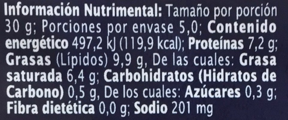 Extra Special Queso Iberico Semicurado - Nutrition facts - es