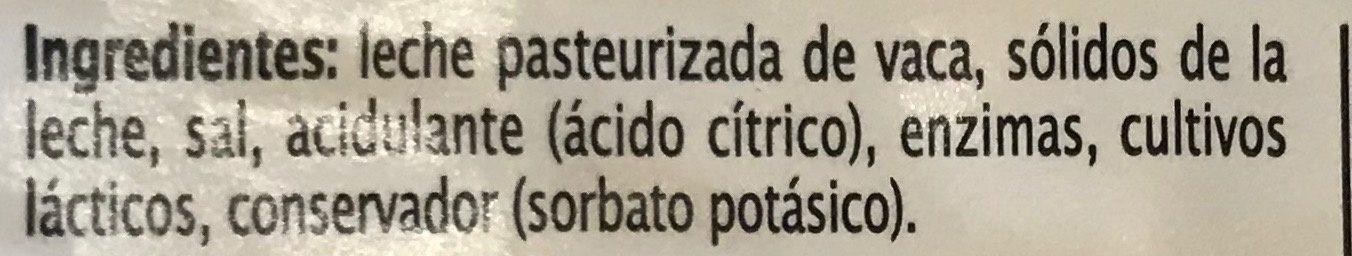 Queso Mozzarella Rebanado Extra Special - Ingrédients - es