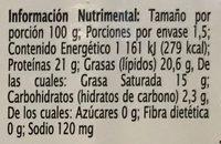 Queso Mozzarella Rebanado Extra Special - Informations nutritionnelles - es