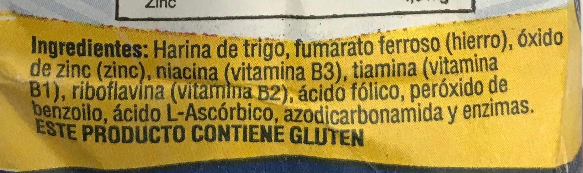 Harina de trigo - Ingrédients - es