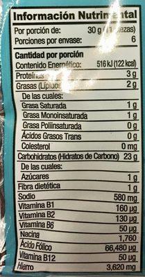 SALADAS - Nutrition facts - es